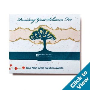 Seed Paper Gift Card Holder - GCHB