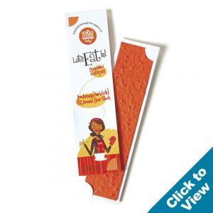 Seed Paper Strip Bookmark - PB2 Series
