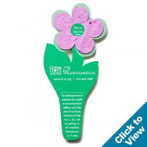 Seed Paper Flower Bookmark - PB5 Series