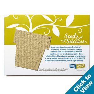 Seed Paper Shape Postcard, Large - PP-Large