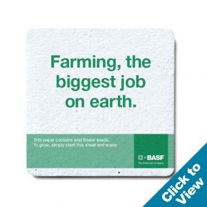 Seed Paper Coaster, Square - PSTC-3.5S