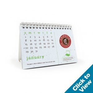 Seed Paper Desk Calendar - SDC