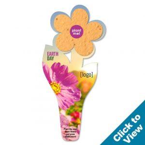 Seed Paper Flower Bookmark - PB5-EDEW Series