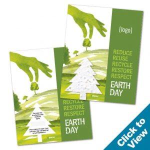 Seed Paper Shape Postcard - PP-EDEW