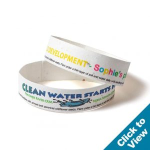 Seed Paper Wristband - SPWB