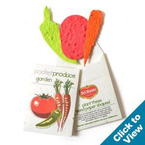 Pocket Garden Seed Paper, Veggie - PGKS-Veggie