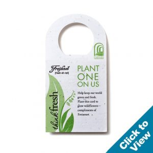 Square Seed Paper Bottle Necker - PSBNS