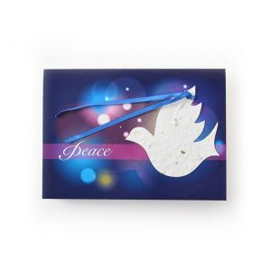 Dove Seed Paper Shape Greeting Card