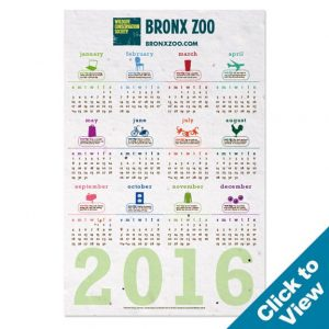 ECOnomy Seed Paper Wall Calendar, Value – SWC-E