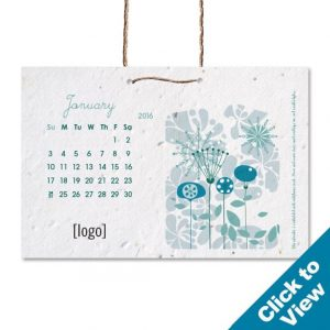 Stock Small Seed Paper Hanging Calendar - SHC-Small