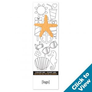 Seed Paper Shape Coloring Bookmark - PB1CB - EW