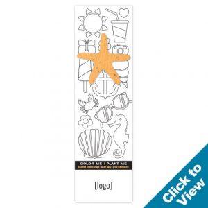 Seed Paper Shape Coloring Bookmark - PB1CB - EW
