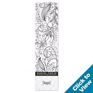 Seed Paper Coloring Bookmark - PB4CB - EW