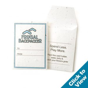 Seed Paper Gift Card Sleeve - GCS 2