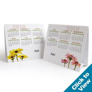 Stock Seed Paper Tent Calendar - STC-EW