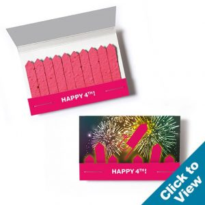 Patriotic Seed Paper Matchbooks - SPMBS-US