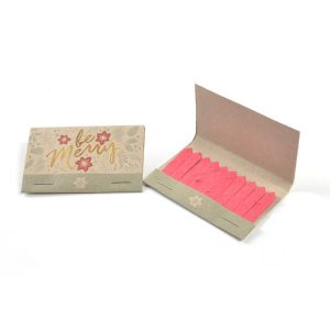 seed paper holiday matchbooks