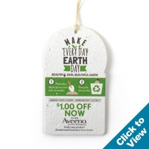 Seed Paper Product Tag, Round Top – PST-Round Top